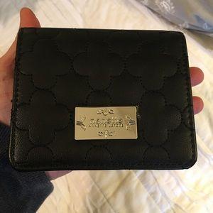 NWOT Nanette Lepore Wallet Black Quilted RFID Tech